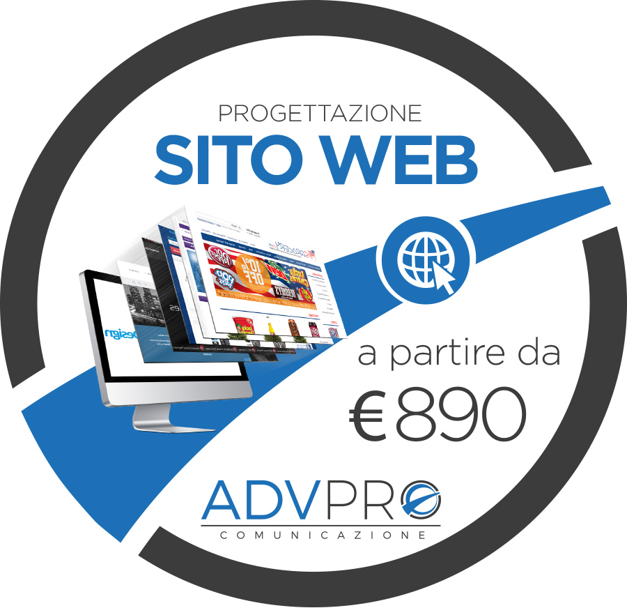 Progettazione sito web Homepage
